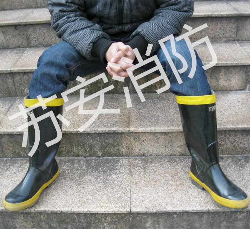 97邮政快递靴/战斗靴/耐酸碱胶靴保险带钢板鞋底新款防护消防包邮