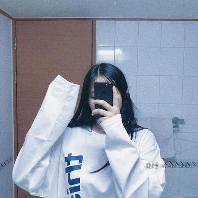 晚睡/ 韩国ins超火竖标字母印花宽松百搭长袖T恤女卫衣上衣打底衫