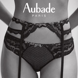 Spring and summer new French luxury brand Aubade intoxicated series lace garter sling NA50