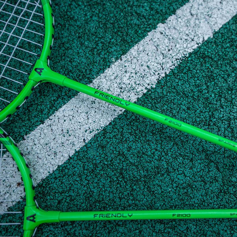 安格耐特羽毛球拍套装全碳素超轻双拍 儿童小学生成人耐用型2支