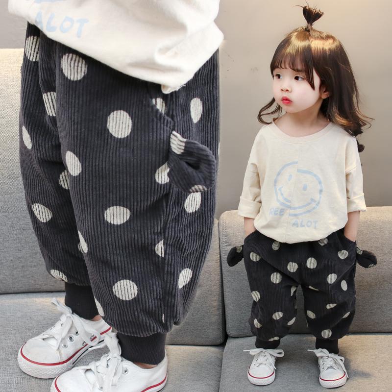 女童哈伦裤加厚