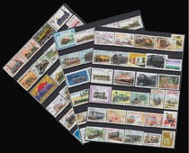 100 Foreign train stamps do not repeat large thematic datestamped Stamp products 2 sent 200 pieces different