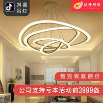 新中式餐厅吊灯三头中国风大气别墅复式楼梯间楼梯长吊灯单头灯具