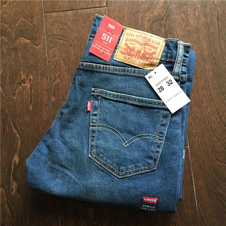 美国官网正品 Levis 511-1163 李维斯男士修身牛仔裤 现货,levi's李维斯牛仔裤