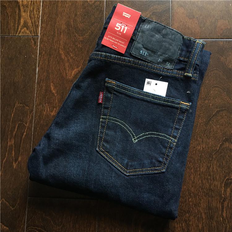 美国官网采购 Levi's 511-1390 李维斯深蓝色男士修身牛仔裤,levi's李维斯牛仔裤
