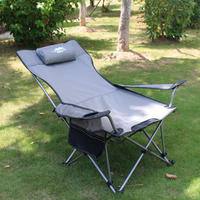 Outdoor folding chair fishing chair portable sitting lie dual-use lounge chair lunch camp beach chair