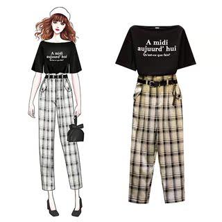 大码女装2019时尚夏很仙的网红洋气裤装胖mm显瘦新款减龄两件套装