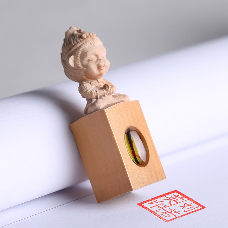 胎毛印章宝宝胎毛纪念品鸡狗胎发脐带章diy自制男女孩乳牙收藏