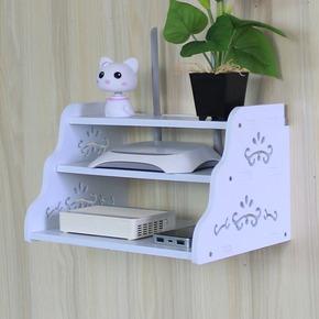 电视柜整理架路由器收纳盒机顶盒置物架子墙上支架壁挂隔板搁板
