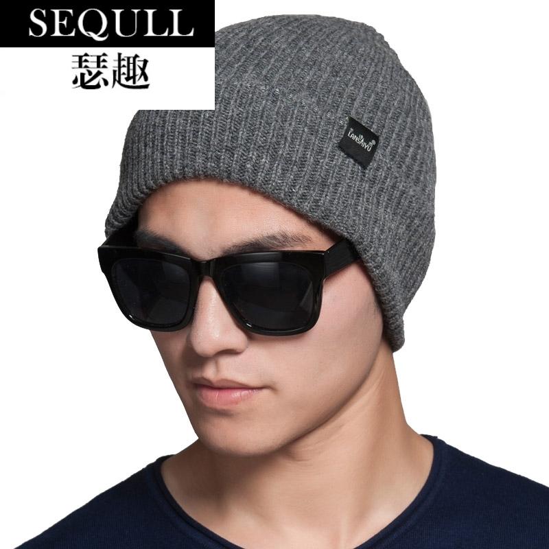 男款毛线帽冬季