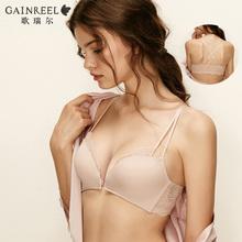 歌瑞尔性感蕾丝前扣美背内衣薄款无钢圈少女文胸罩180857A图片