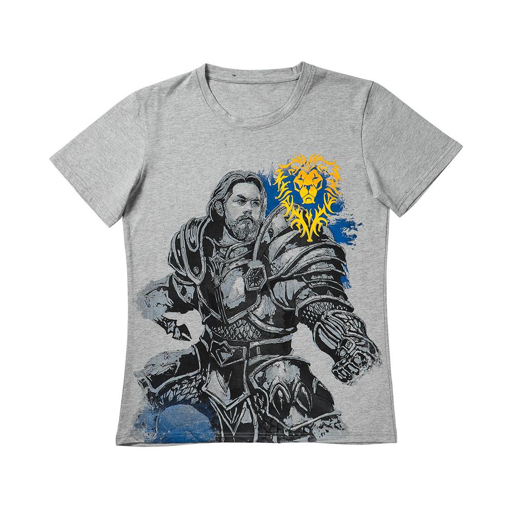 影时光 魔兽世界游戏周边 手绘风纯棉T恤 圆领休闲短袖夏男女