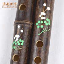 调F调G竖吹竹初学练习民族天然紫竹竖