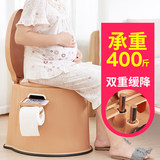 The new slow-down mute elderly toilet thickened plastic pregnant woman toilet plus high mobile children's urine bucket can squat toilet