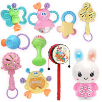 0-1 years old baby toy teether rattle 3-6-12 months 8 puzzle boys and girls early education newborn baby