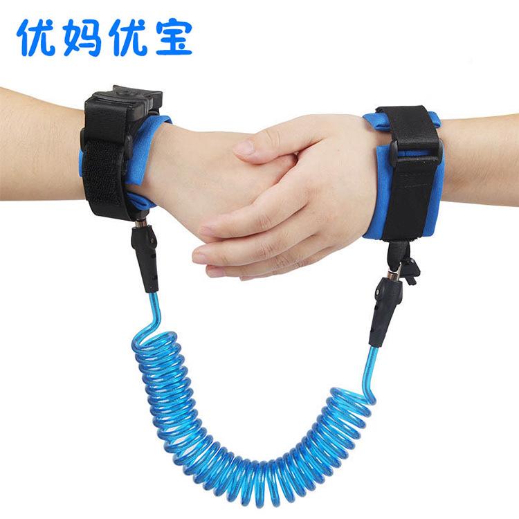 一个成人安全手环宝宝防走丢绳天然防走失带锁拉夏季丢失加长项的