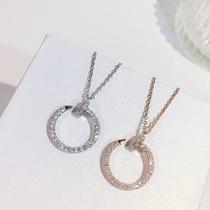 潘多拉海洋之心项链套装女锁骨链纯银925专柜正品PANDORA现货