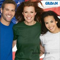Gildan GILDAN76000 spring and summer cotton men and women solid color short-sleeved loose t-shirt class clothing shirt wholesale