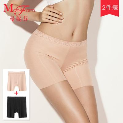 曼妮芬防走光安全内裤 无痕莫代尔蕾丝舒适透气平角内衣女 2条装