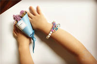 Girls Children Baby Girl Accessories Jewelry Candy Color Cartoon Pig Pony Series Casual Joker Bracelet