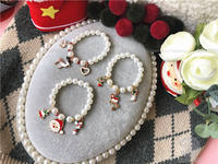 Girls Children Baby Girl Show Dress Accessories Jewelry Christmas Gift Princess Pearl Bracelet Bracelet