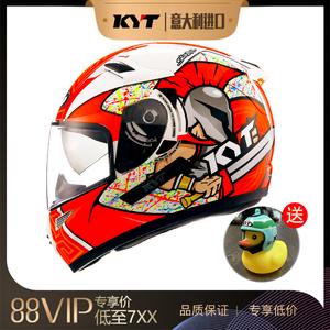 进口意大利KYT摩托车头盔双镜片机车全男女通用视频记录仪蓝牙K2