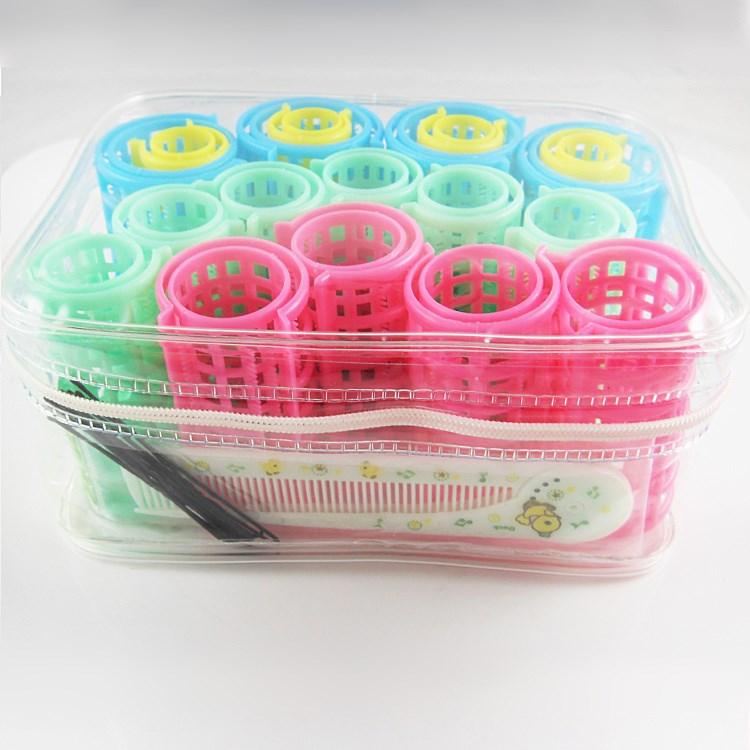 包邮 双层带齿塑料发卷 子母发卷 梨花头卷发器 20件套装送梳子