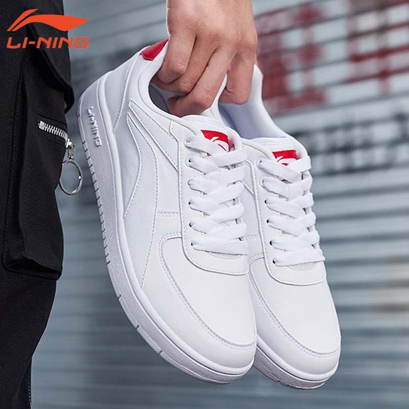 李宁白色男鞋 休闲鞋男春秋季旅游鞋耐磨滑板鞋小白鞋男款运动鞋