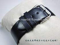 小牛皮真皮表带男女通用手表带牛皮针扣手表配件代用卡西欧浪琴