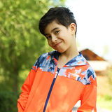 Pathfinder Children's Wear Autumn/Winter Outdoor Boys Warm Print Wind-proof Comfort Grip Run Jacket TJWK15301