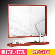 层卫生间置物壁挂架收纳2免打孔太空铝洗手厕所三角形浴室置物架