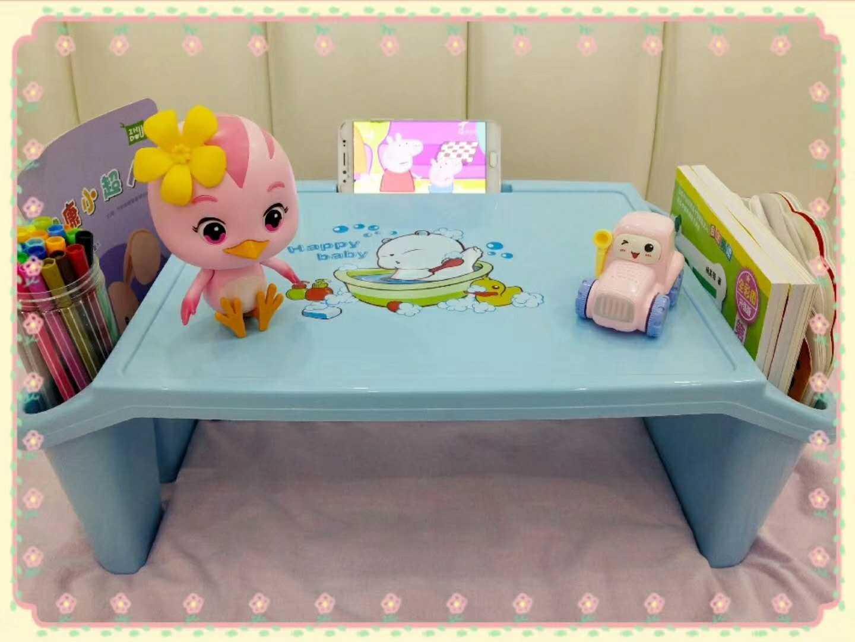 多功能分隔儿童小课桌加厚塑料成人床上笔记本电脑桌懒人学习书桌