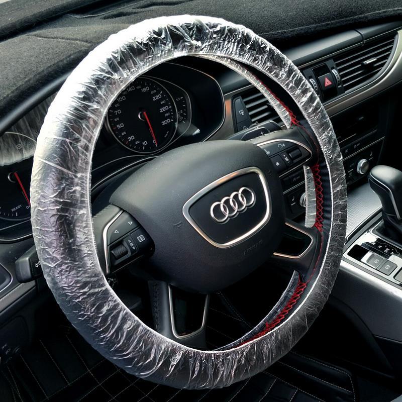 方向盘套方向套修车汽修保养防脏美容塑料用品专用汽车防污薄膜