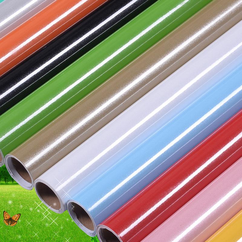 加厚烤漆珠光家具翻新贴PVC光面墙纸自粘壁纸橱柜衣柜贴纸防水