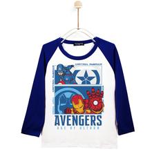钢铁侠美国队长纯棉男女童装 宝宝体恤打底衫 上衣 2019儿童长袖 T恤图片