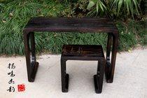 扬州古琴桌厂1.1米长厚3.8传统工艺烧桐木一体古琴桌凳扬鸣