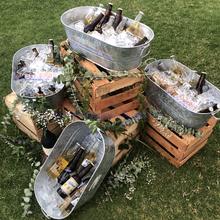 做旧欧式冰桶家用酒吧商用户外长冰桶不锈钢红酒啤酒大容量香槟桶