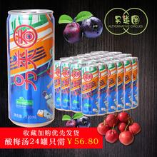 24罐西安特产非酸梅粉勾兑 另类圈酸梅汤乌梅汁网红热词饮料310ml