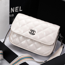 Hong Kong Delivery of Xiaoxiangfeng Women's Bag 2019 New Korean Baitao Wide Shoulder Strap Slant Bag Leather Linger Chain Bag