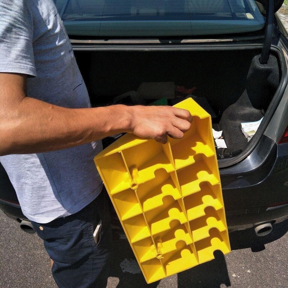 停车两用坡室内加长橡胶车轮斜坡垫汽车轮30台阶木铁架厘米上坡一