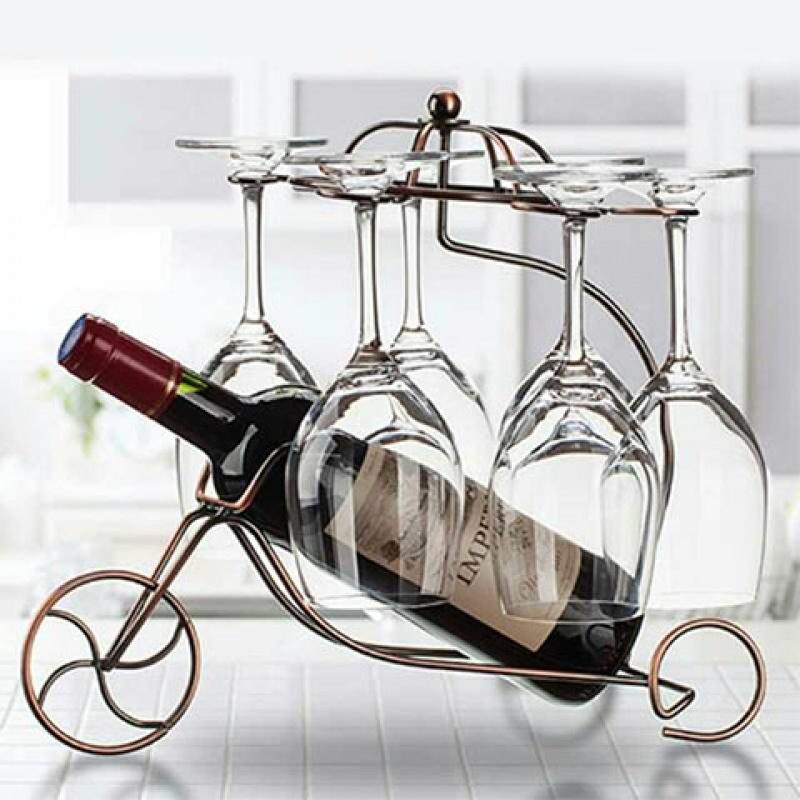 【送酒杯套餐】红酒架、红酒挂杯架、倒挂酒杯架、家用摆件酒杯架