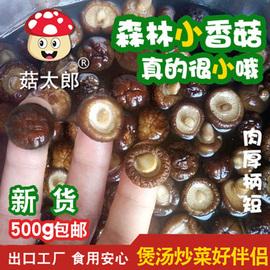 菇太郎小香菇干货特小香菇500g新货金钱菇迷你冬菇珍珠菇香菇批发图片