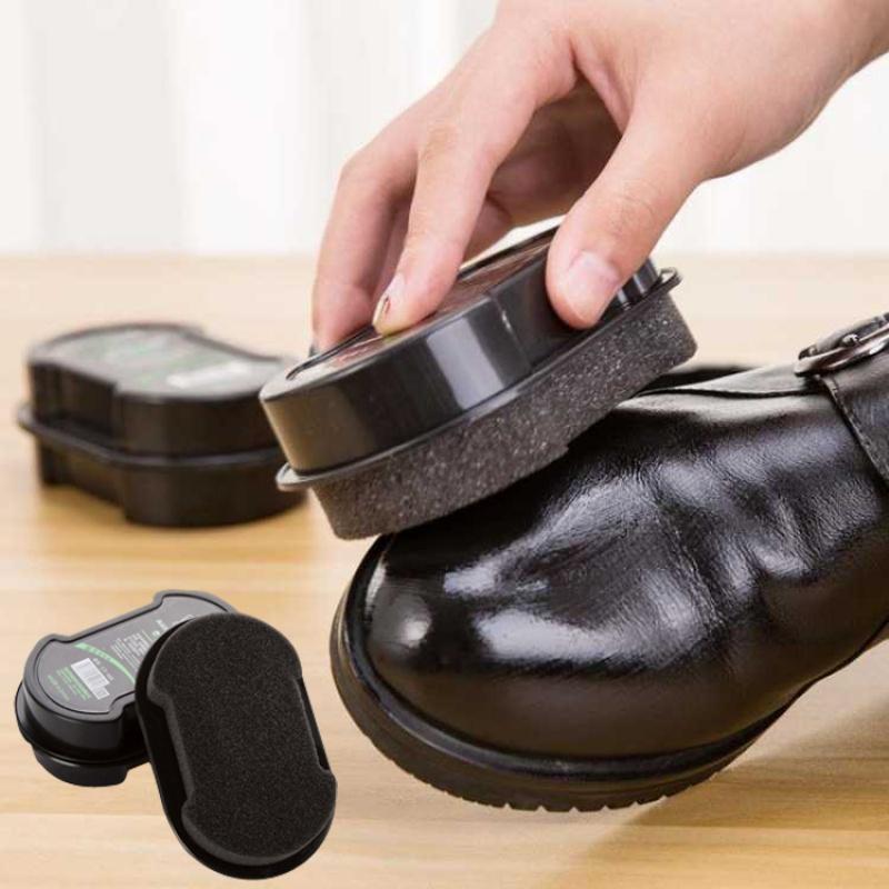 一擦即亮 无色 亮鞋护鞋 海绵鞋蜡鞋擦皮鞋刷子皮鞋保养鞋油