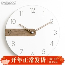 Emitdoog Modern minimalist Nordic light luxury clock living room bedroom artist with clock creative fashion clock