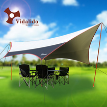 vidalido outdoor oversized silver sky tent anti-UV Beach pergola awning camping barbecue