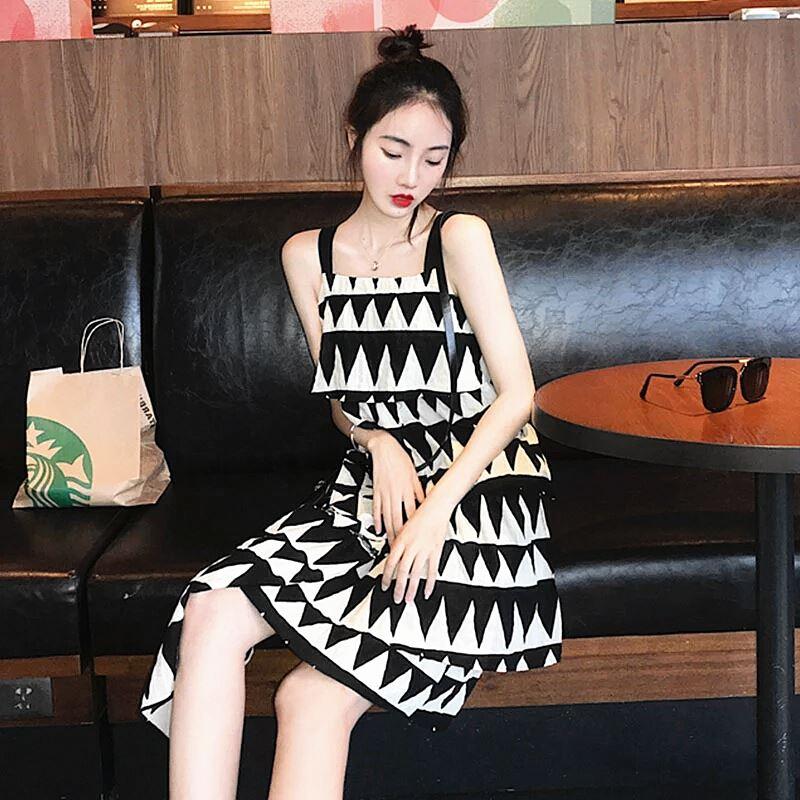 MOUMOU 女夏季吊带连衣裙泰国三亚海边度假沙滩裙超仙显瘦巴厘岛