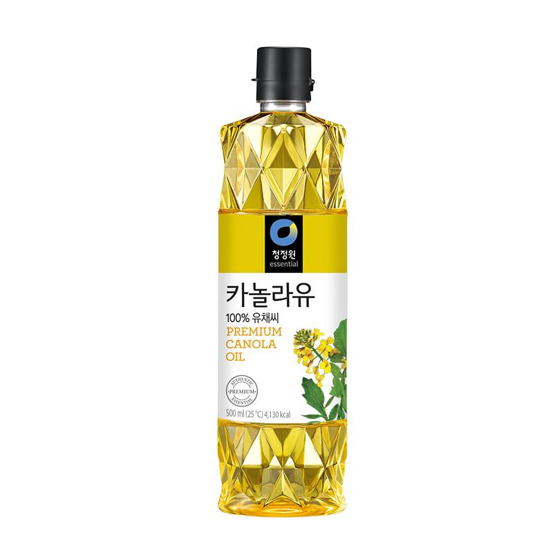 清净园菜籽油500ml进口食用植物油煎炒烹炸煮韩国直邮
