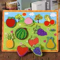 儿童早教立体拼板 木质3djp拼图手抓1至3岁宝宝益智玩具拼图 早教