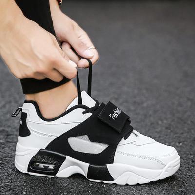 秋季韩版ulzzang潮流百搭透气休闲鞋子男士运动鞋气垫内增高男鞋