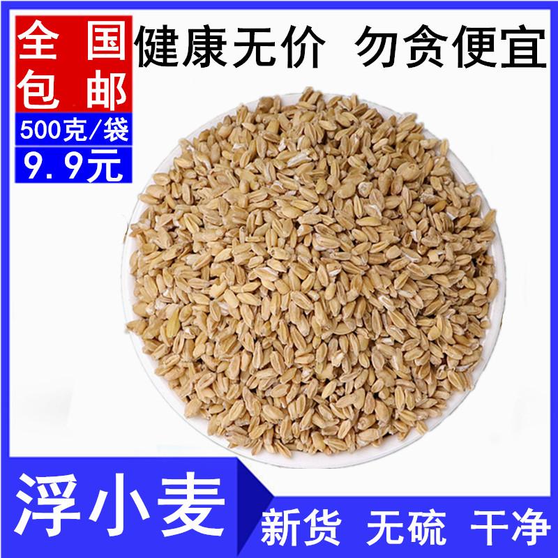 新货精选浮小麦茶 中药材浮小麦500克 包邮瘪小麦浮麦小麦止汗